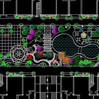 天井内庭院绿化图