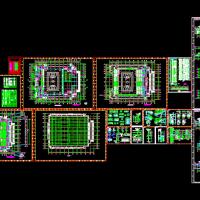 某地2100座体育馆建筑施工图(篮球)