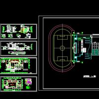 三层框架活动中心建筑施工图纸