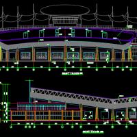 湖南某学院游泳馆建筑结构水电暖通全套设计图