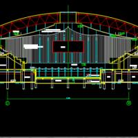 梭形游泳馆建筑初设方案图