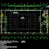 小学两层框架结构体育馆风雨操场建筑图
