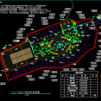 某地景区入口广场景观设计图