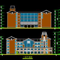 卫校五层框架结构实验楼建筑设计方案图