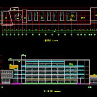 某中学五层框架结构实验楼建筑方案图
