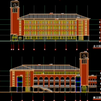 小学食堂兼风雨操场及行政办公楼方案图