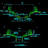 黑臭河道治理工程设计图,内容包括河道治理总图