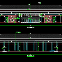 中学风雨操场建筑设计图
