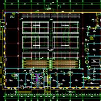 羽毛球馆健身中心建结水电暖全套设计图