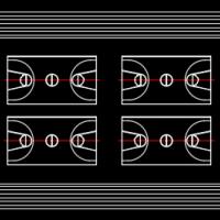 300M标准跑道CAD图块