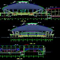 某学院大型体育馆建结水电暖通图全套