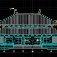 某地框架结构仿唐重檐庑殿大殿建筑施工图
