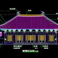 仿古大殿颖祥殿建筑设计图纸