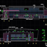 某中学篮球体育馆建筑设计图