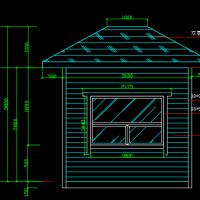 木结构门房建筑与结构设计图