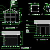 一层木结构茶楼设计施工图纸