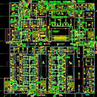 医院门诊楼VRV空调系统及通风排烟系统图(全热交换器 动力系统)