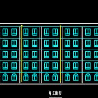 五层框架结构教学实验楼建筑设计图(课设)