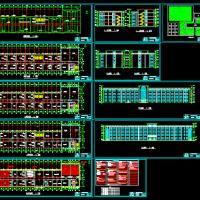 7000平米四层框架结构教学楼课程设计图(建筑结构施组)
