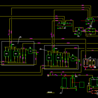 小区锅炉房热力系统图