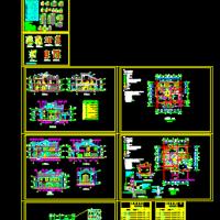 两层木结构别墅建筑施工图