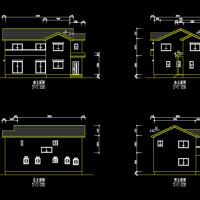 两层木结构木别墅建筑结构图纸
