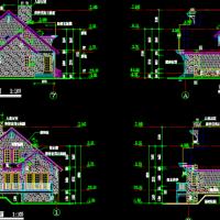 两层精典木结构别墅建筑设计图纸