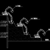 土方工程施工机械图块及施工方法图