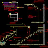 消防改造新增钢结构楼梯设计图