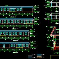 一层L表农村红事礼堂用房建筑及结构设计图