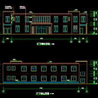 南方村镇文化礼堂及活动室建筑结构水电全套图