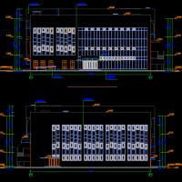 某大学礼堂报告厅建筑结构给排水电气暖通设计全套图