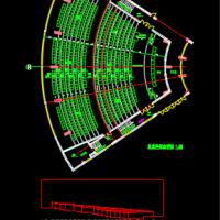 报告厅礼堂视线分析图及坐席布置图