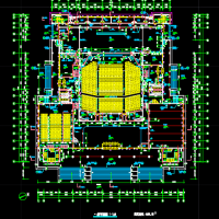 某大学礼堂建筑设计施工图纸