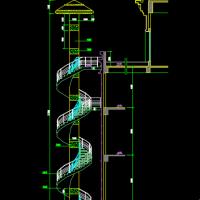 钢结构旋转楼梯设计图纸