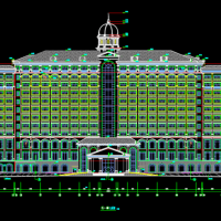 某地恒大绿洲12层欧式酒店建筑施工图