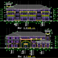 江西某地恒大3层12班幼儿园建筑设计图