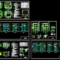 四层框架结构转运站建筑施工图纸