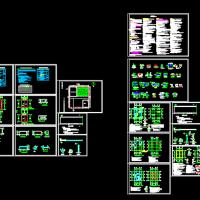 压缩式垃圾中转站建筑及结构设计图