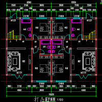 16.52X11.66农村双拼兄弟住宅平面方案图