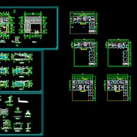 16X15.1一层农村带院住宅建筑设计图纸