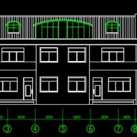 23.04X8.94两层农村双拼别墅住宅建筑及结构图