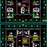 20x15两层三户农村自建设计平面图