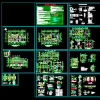 某地三层框架结构消防站建筑设计图纸