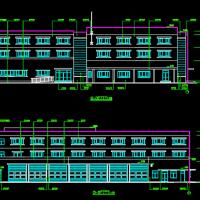 三层框架结构消防站建筑设计图纸