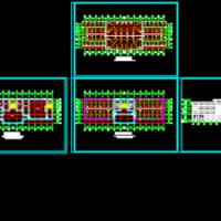 三层消防站建筑设计方案图