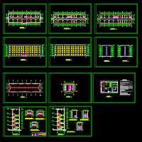 4140平米五层框架结构医院图纸及PKPM模型