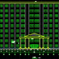 十层框架结构办公楼建筑结构施工图纸(8800平米)