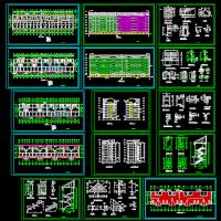 六层砖混住宅楼建筑施工图(坡顶老虎窗)