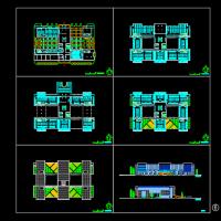 某地图书馆建筑设计方案图(含效果)